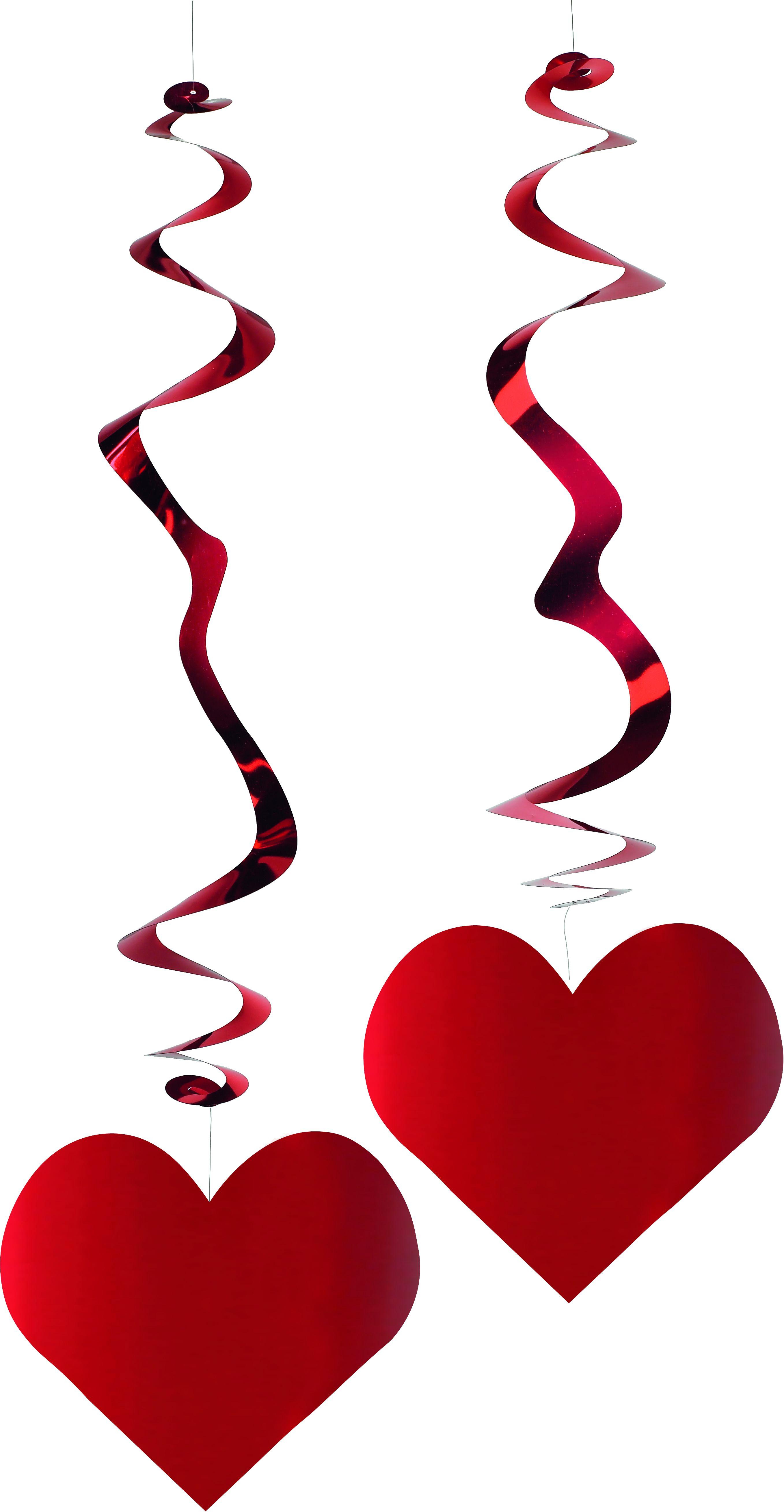 Lot de 6 suspensions coeur metalisees ignifugees le - Coeur pour la saint valentin ...
